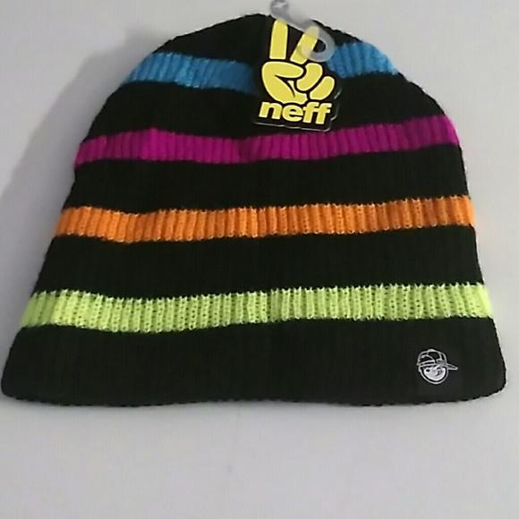 Rare neff beanie hat cap neon colors New NWT 2a3b8dccc5c